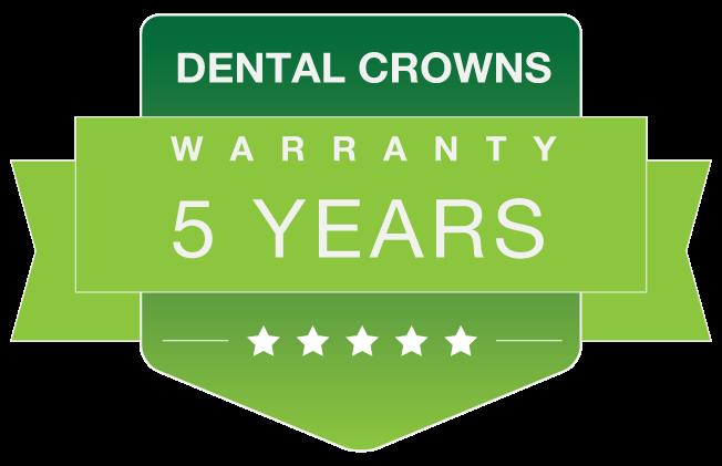 Dental crowns warranty