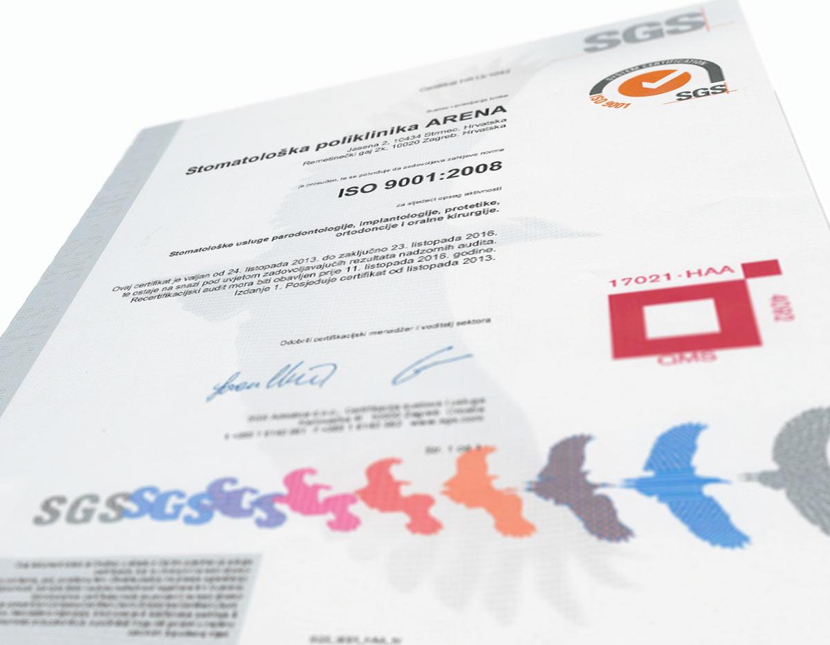 ISO Certifikat
