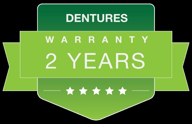 dentures warranty